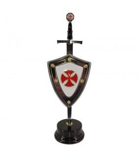 Set Cruzados, abrecartas con escudo y stand