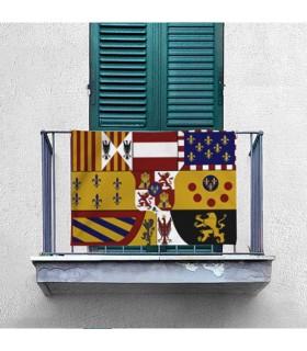 Estandarte Medieval Casa de los Borbones, apaisado (100x70 cms.)