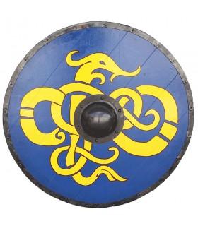Escudo Vikingo Tribal Azul de Windlass madera y acero