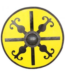 Escudo Medieval Redondo de Windlass madera y acero