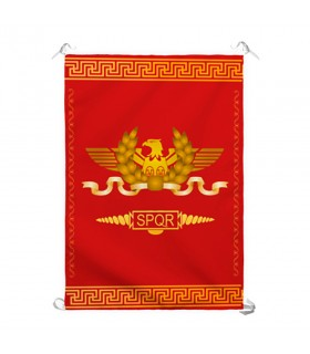Estandarte Legion Romana SPQR, fondo rojo (70x100 cms.)