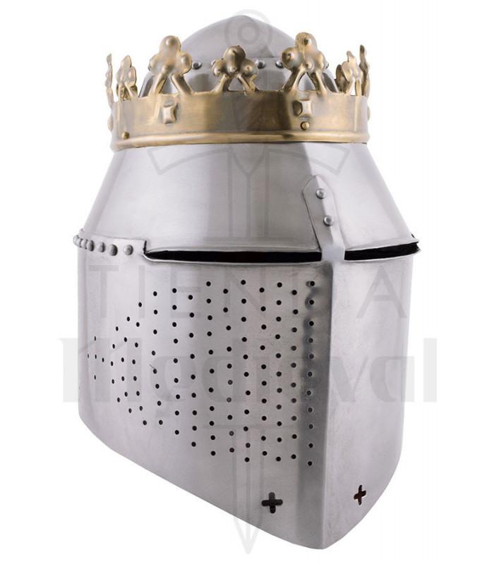 Gran Yelmo de batalla con corona del Rey