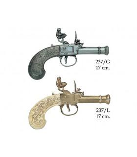 Pistola inglesa fabricada por Bunney, siglo XVIII