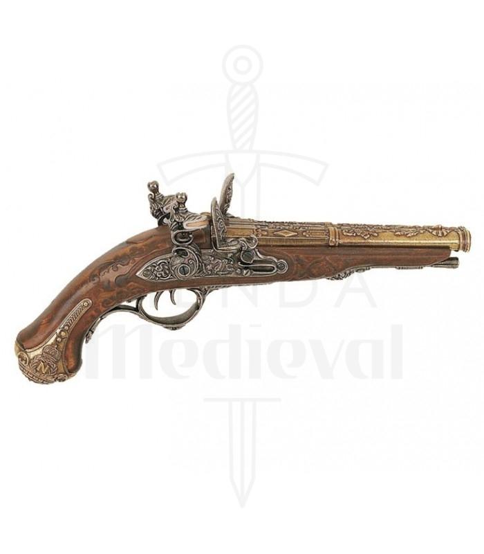 Pistola de 2 cañones creada en St. Etienne para Napoleón, 1806