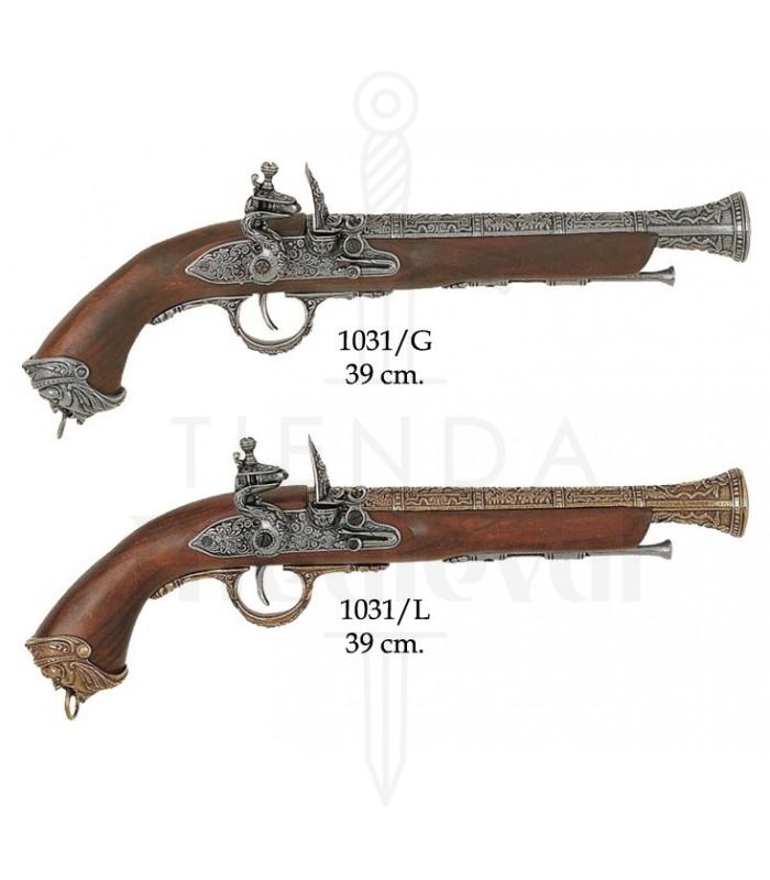 Pistola italiana, siglo XVIII