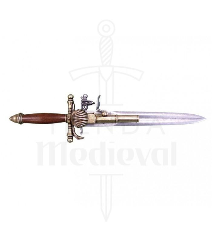 Pistola-puñal francesa, siglo XVIII