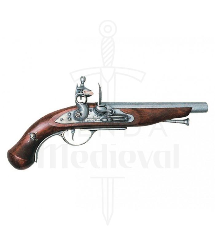 Pistola pirata francesa, siglo XVIII