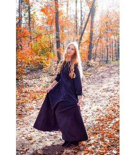 Vestido medieval mujer largo negro