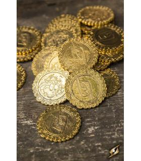 Set de 30 monedas del Dragón, color oro