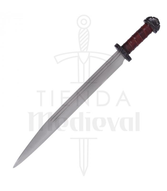 Espada Seax vikinga larga con funda