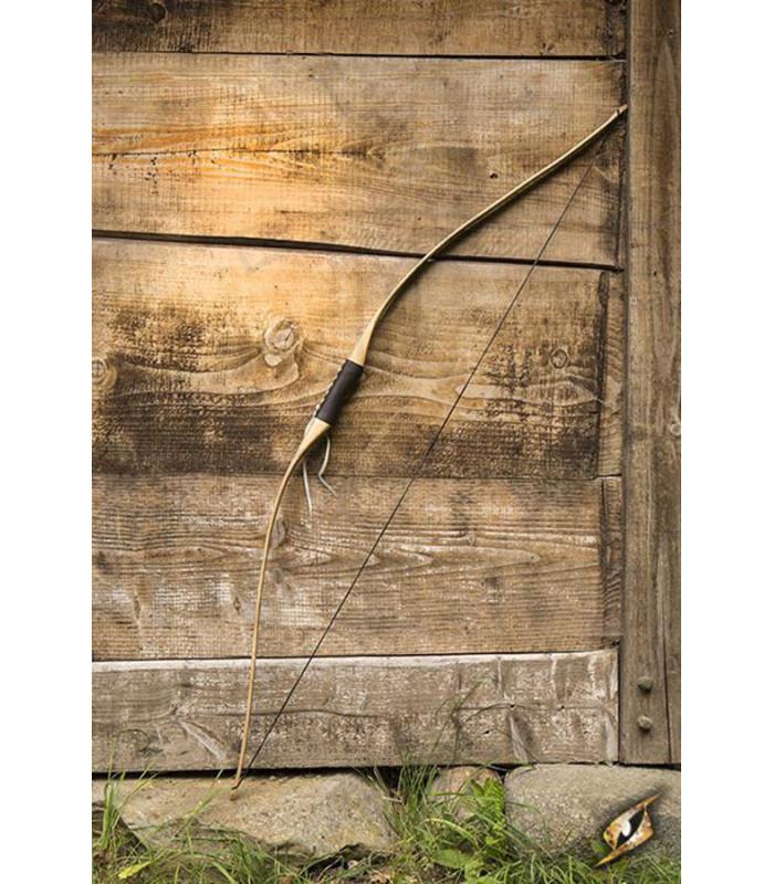 Arco medieval juvenil de madera para LARP, 152 cm.