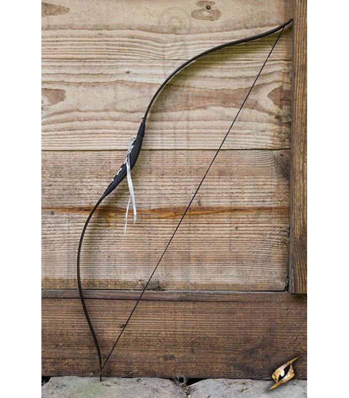 Arco medieval Deluxe negro para caballo. Cuerda 88 cm.