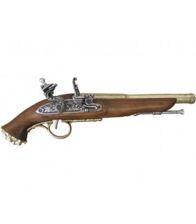 Pistola pirata de percusión, siglo XVIII