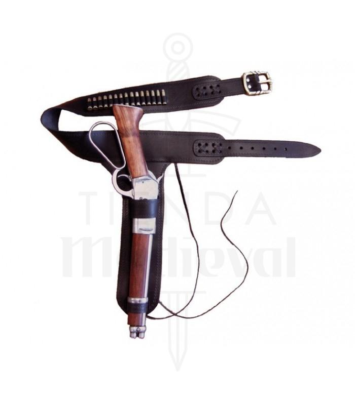 Canana de piel para rifle Mare's Leg con 15 balas