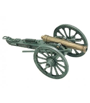 Cañón utilizado en la guerra civil EUA, 1861 (19 cms.)