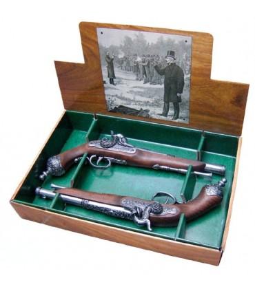 Set 2 pistolas italianas de duelo, 1825