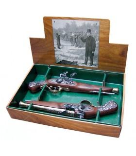 2. September englischen Duells Pistolen, XVIII Jahrhundert