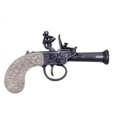 Pistola de chispa inglesa, año 1798