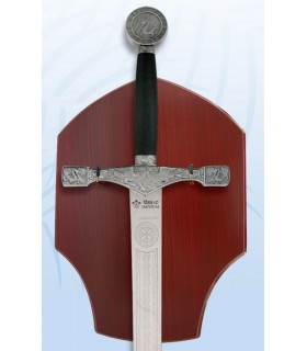 Espada Excalibur con soporte para colgar