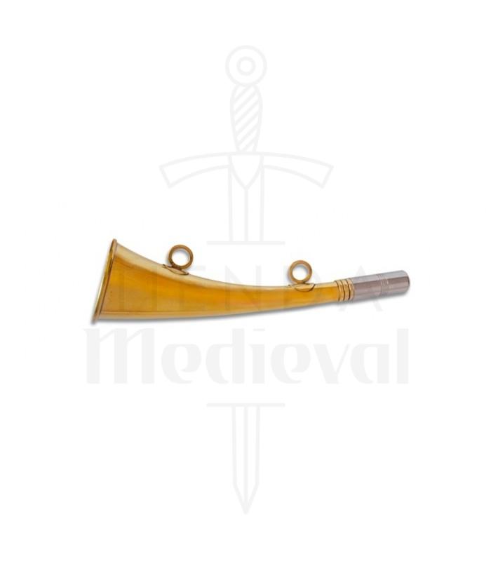 Trompleta inglesa metal, 23 cms.