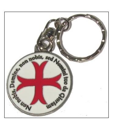 Llavero Cruz Templaria con leyenda