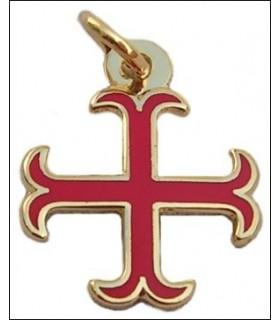 Colgante Cruz Templaria anclada