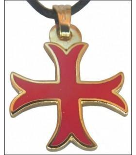 Colgante templario Cruz patada