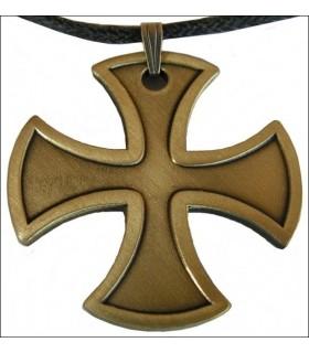 Colgante cruz templaria patada