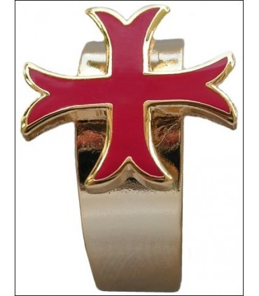 Anillo templario autoajustable cruz patada