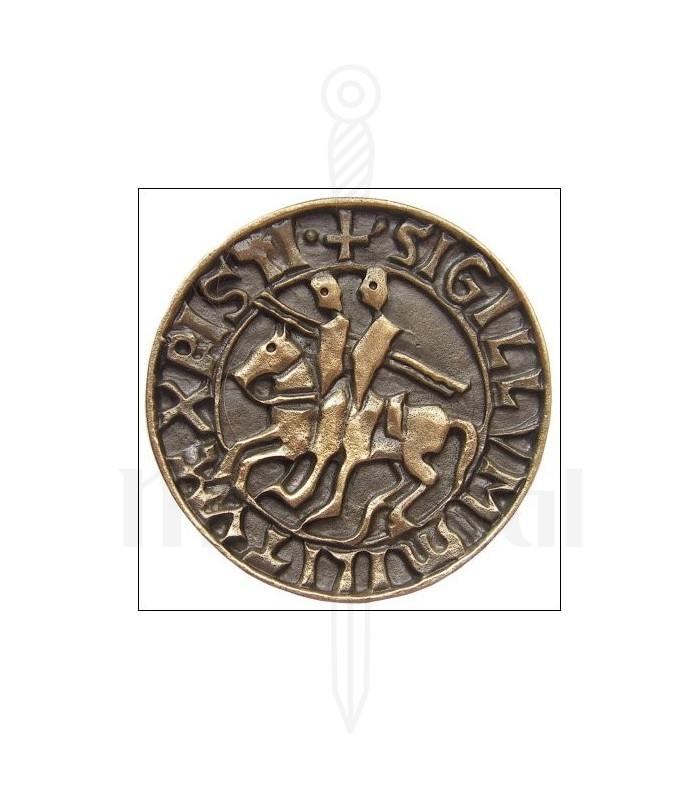 Imán sello templario, acabado bronce