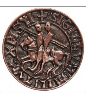 Imán sello templario, acabado cobre