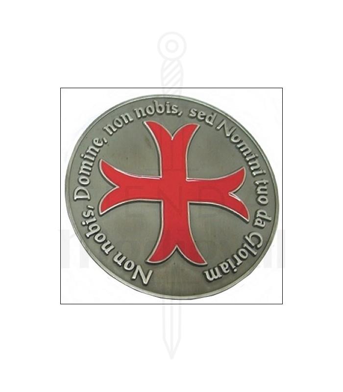 Pisapapeles cruz templaria, acabado plata