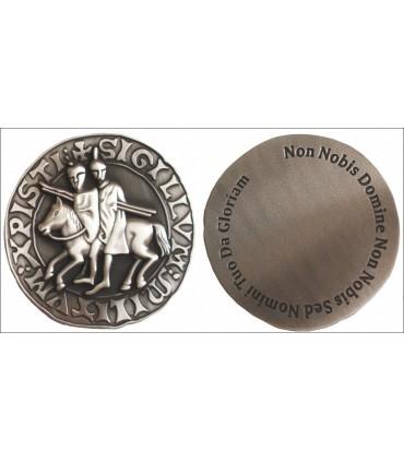 Pisapapeles sello templarios, acabado plata