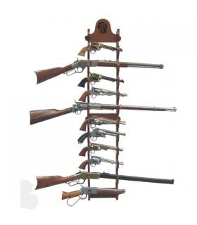 Expositor de 12 pistolas para colgar en pared
