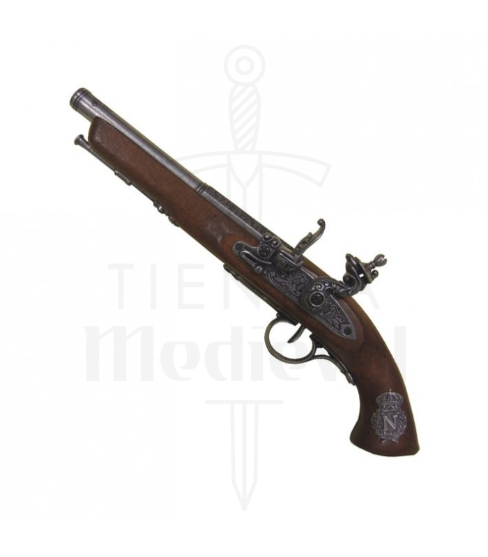 Pistola de chispa, Francia siglo XIX. (zurda)