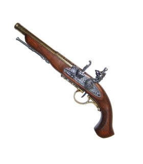 Pistola de chispa, siglo XVIII. (zurda)