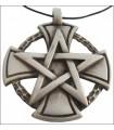 Colgante cruz pentagrama templario