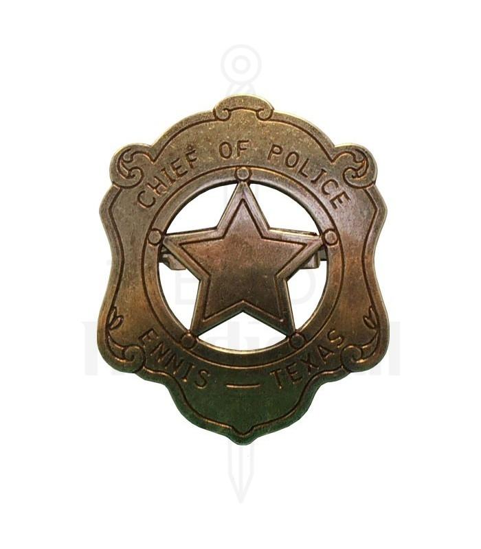 Placa de Jefe de Policia