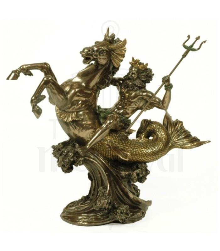 Figura Dios griego del mar Poseidón, 30 cms.