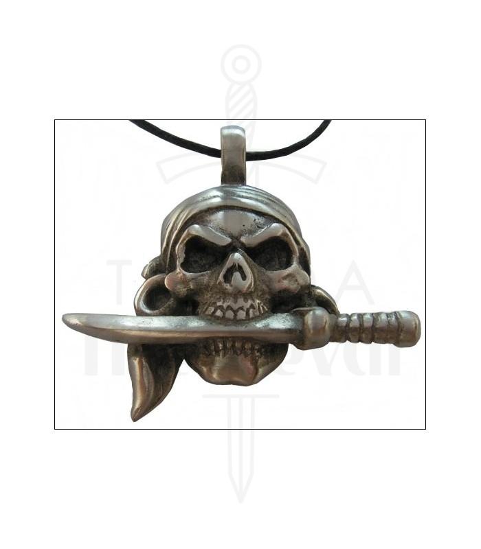 Colgante pirata cuchillo en boca