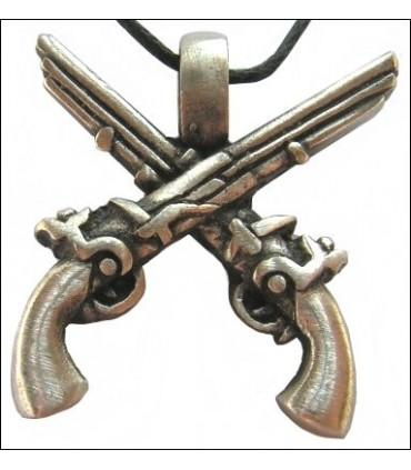 Colgante pistolas piratas