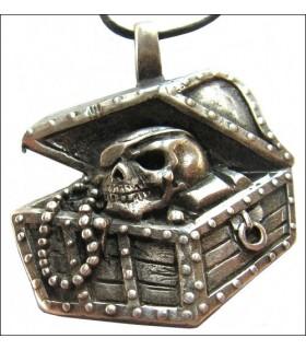 Colgante baul tesoro pirata