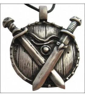Colgante vikingo espadas en cruz