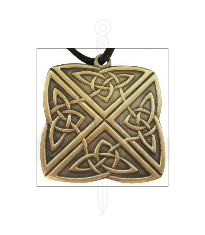 Keltischer Knoten Anhänger mit 4-Wege- - Tienda Medieval