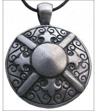 Colgante escudo griego