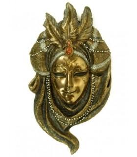 Máscara veneciana collar perlas