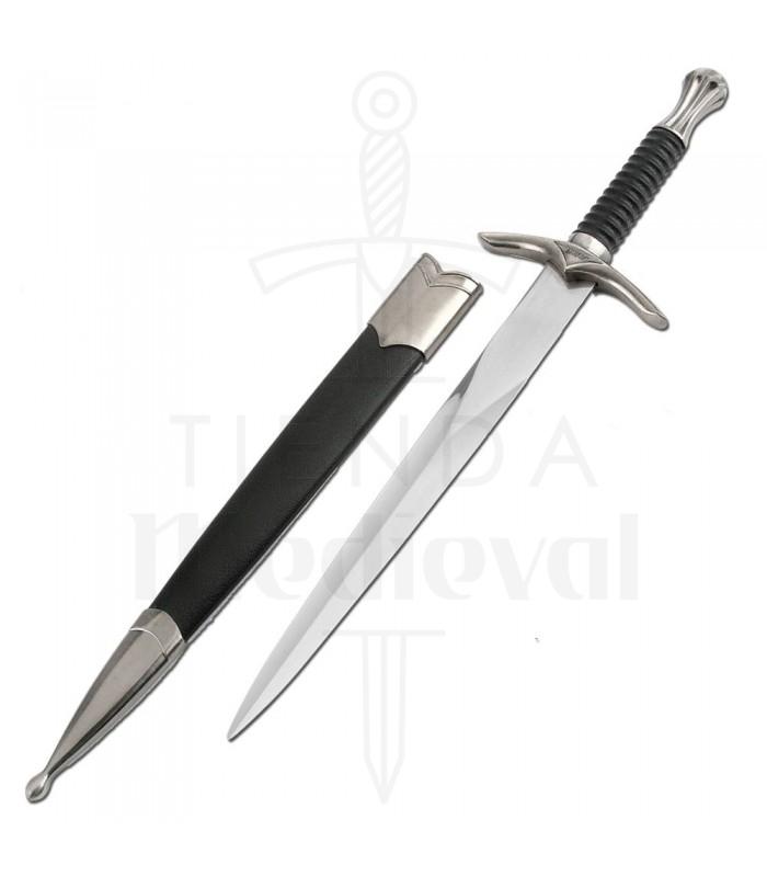 Daga medieval con vaina
