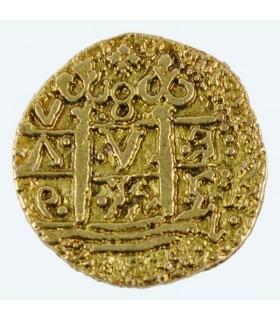 Moneda 2 Escudos dorada, doblón
