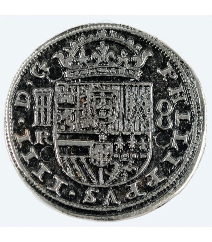 Münze 8 Reales Silber 35 Cm Zubehör Tienda Medieval