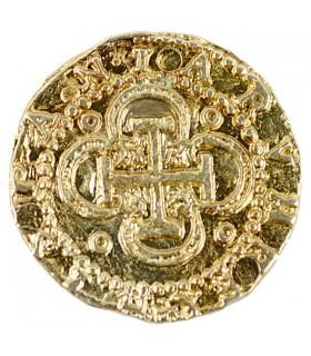 Moneda 2 Escudos dorada, 3 cms.